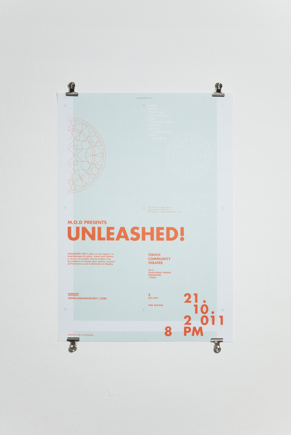 UNLEASHED! 2011 on Behance #event #layout #composition #poster