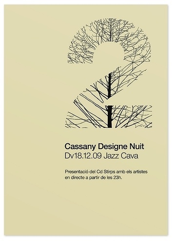 Poster Stirps jazz cava — marindsgn   Flickr - Fotosharing! #culture #design #graphic #minimalistic