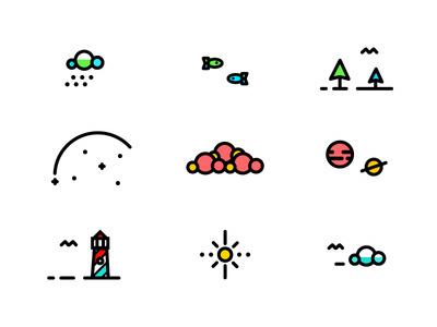 E-X-P-L-O-R-E icons #badge #line #tree #icon #color #icons #texture #logo #illustration #plane #type #detail