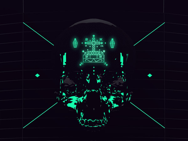 Death in motion. Goverdose v2.0 on the Behance Network #v20 #goverdose #gif #skull #future #neon