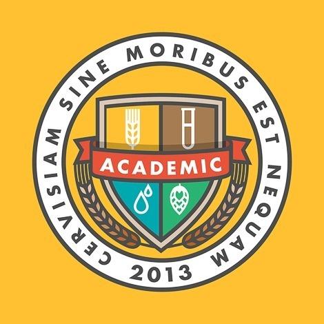 Academic Brewery Logo #beer #illustration #logo