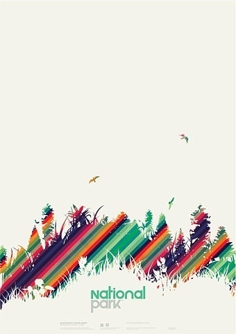 FFFFOUND! | Print Work on the Behance Network #national #park