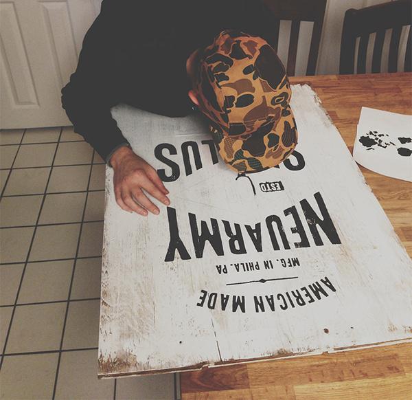 NeuarmySurplusCo_WoodSignage_0013_08 #painted #hand #neuarmy #typography