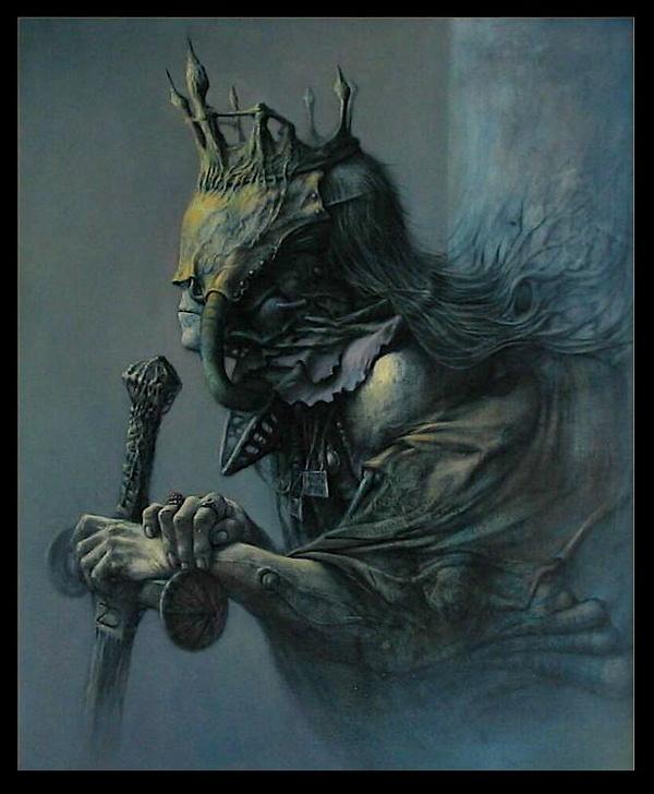 queen by ~22zddr on deviantART #monarch #horror #royal #illustration #concept #art #shaman #queen