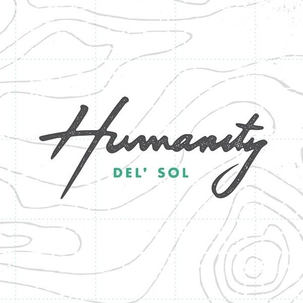 Humanity Del' Sol by http://bravepeople.co #lettering #branding #del #sol #texture #logo #people #humanity #illustration #identity #topography #made #type #brave #hand #typography