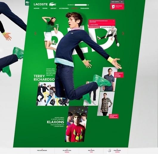 Julien Bailly Portfolio updated » Digital Abstracts / Online Design Magazine / Interviews / Design Inspiration #lacoste #julien #website #bailly #webdesign #green