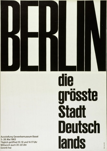 Emil Ruder poster, 1963 - BIG AND STRONG #emil #ruder #poster #typography