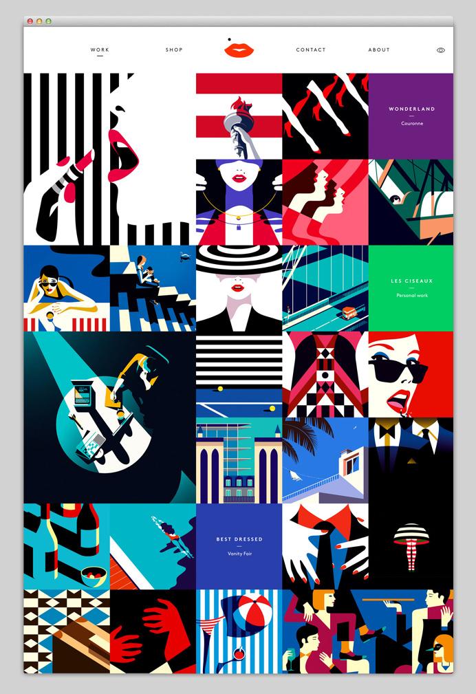 website, portfolio, illustration, vector, boxes