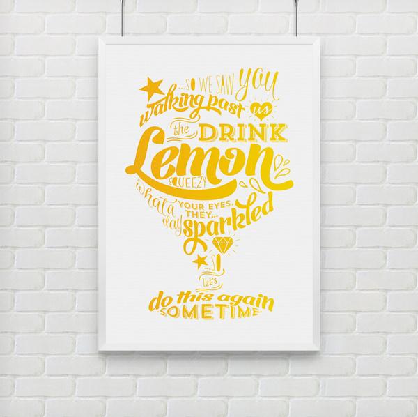 bezigncreative.com Lemon Squeezy bezigncreative.com #print #yellow #type #lemon #hand