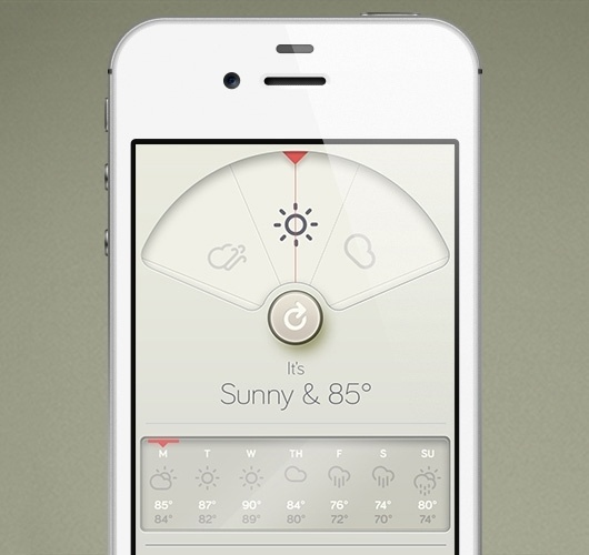 Weather iPhone App - WANKEN - The Art & Design blog of Shelby White #ux #design #wthr #ui #mobile