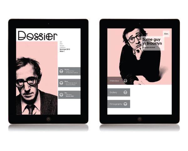 Dossier on Behance #ipad #layout #magazine