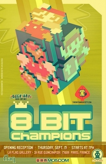 8bitposterlight-1.jpg 615×950 pixels #8 #design #bit #illustration #poster #game #typography