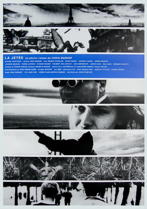 Japanese poster for LA JETÉE (Chris Marker, France, 1962) Designer: unknown Poster source: Film on Paper R.I.P. Chris Marker (1921 2012) #movie #poster #film