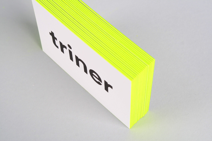 Best branding triner business yellow black images on designspiration filip triner design branding business cards painted edges triner edge neon yellow colourmoves