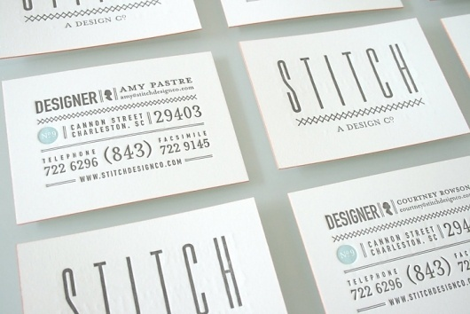 Blog « Stitch Design Co. #business #card #design #letterpress #stitch