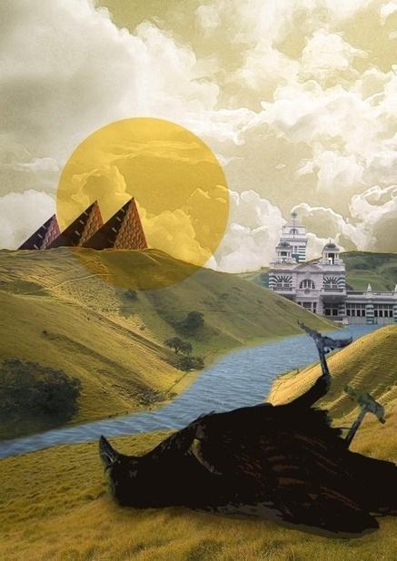 Bad luck #modern #surrealism #vintage #art #collage