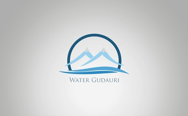 Gudaiuri Water on Behance #mountain #water #branding #gudauri #corporate #identity #mineral #logo