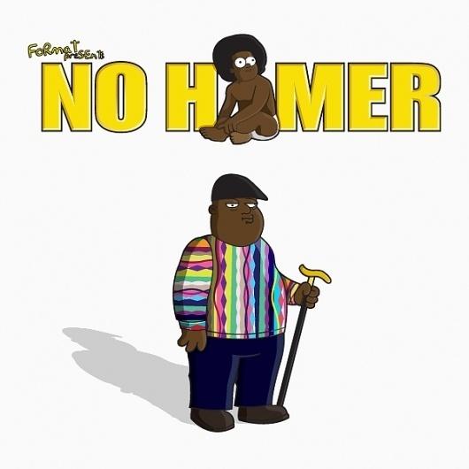 No Homer: 10 Hip-Hop and Rap Icons Simpsonized « Format Magazine Urban Art Fashion #biggie #simpsons #the #homer #illustration #no