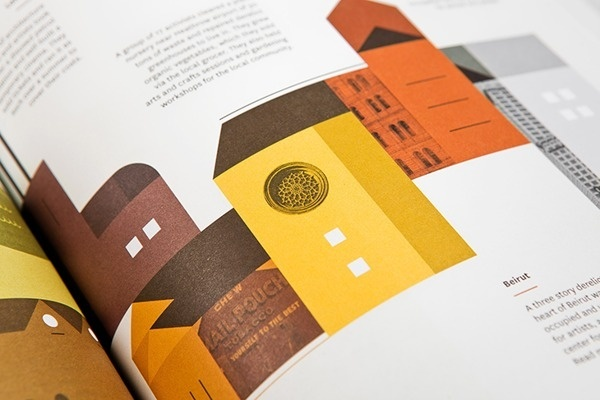 The Outpost / issue 2 #houses #infographic #colors #magazine