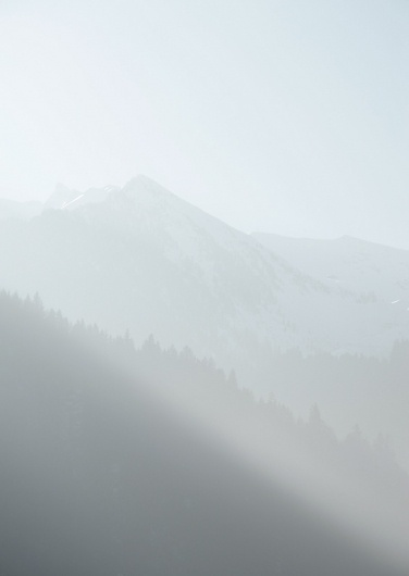 Deep into the cold mountain's heart on the Behance Network #mist #mountain #austria #cloudy