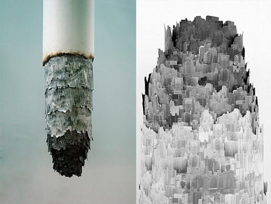 Yang Yongliang | Colossal #installation #yongliang #cigarettes #yang #art #paper
