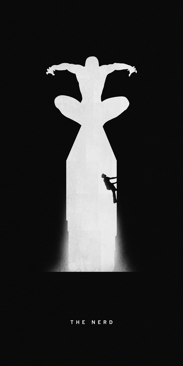 Superheroes Past/Present Series Khoa Ho #superhero #spiderman #illustration #silhouette #poster #marvel #comics