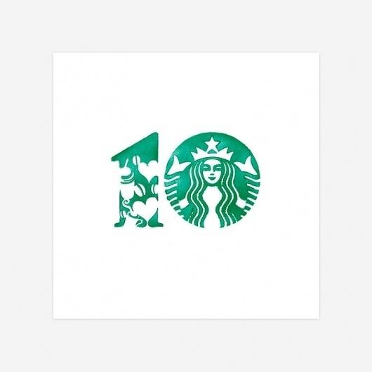 Design Inspiration / Bench.li #starbucks #ten #years #numer #coffee #green