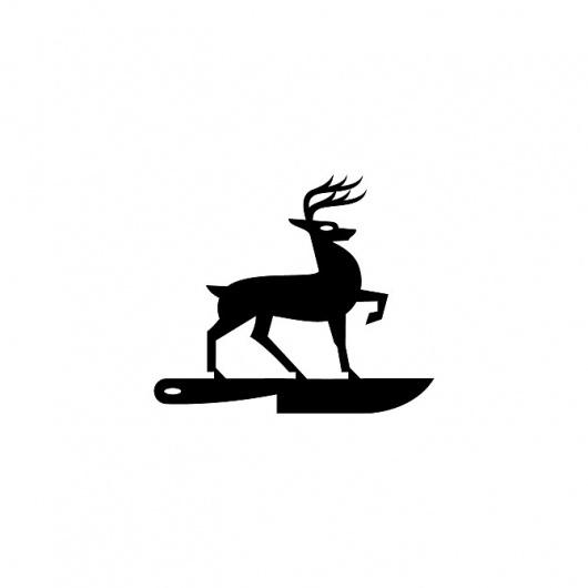Luke Bott #mark #kansas #deer #luke #brand #bott #logo #knife