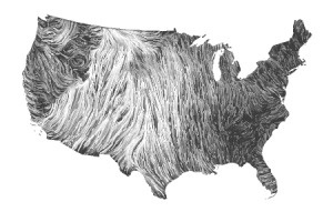 Wind Map: Gallery #wind #white #america #black #and #usa