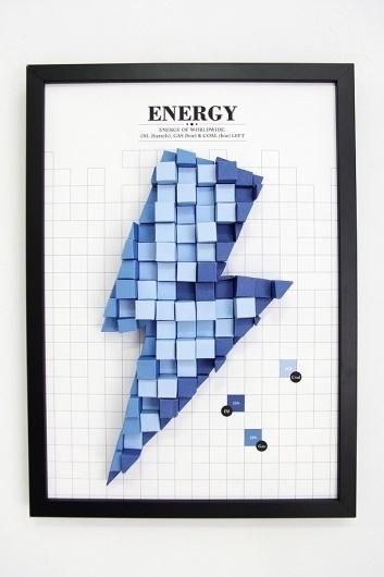 3D Paper Infographics #diagram #paper #electricity #craft