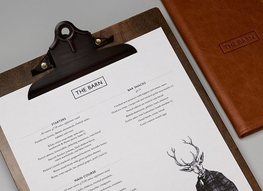 Graphic-ExchanGE - a selection of graphic projects #barn #branding #menu #design #the