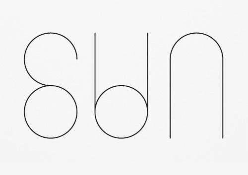 Sun #typography