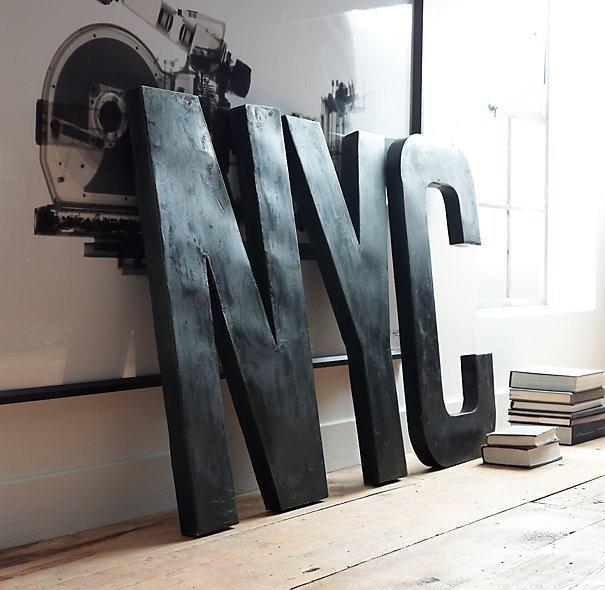 1930s French Shop Metal Letters #tech #flow #gadget #gift #ideas #cool
