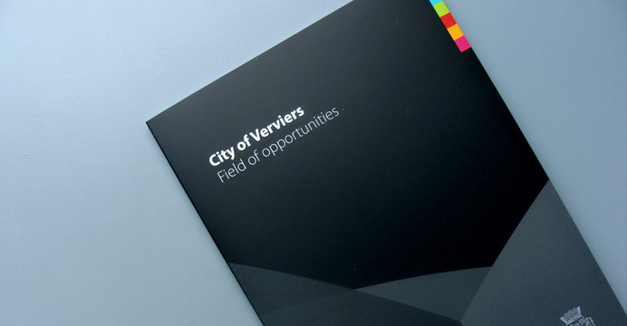 Brochure and leaflets for investors. City of Verviers, Belgium. #brand #identity
