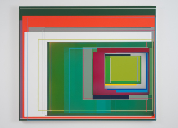 "Patrick Wilson, ""Wake Up"", 2011, Acrylic on canvas, 49"" x 59"" #geometric #art"