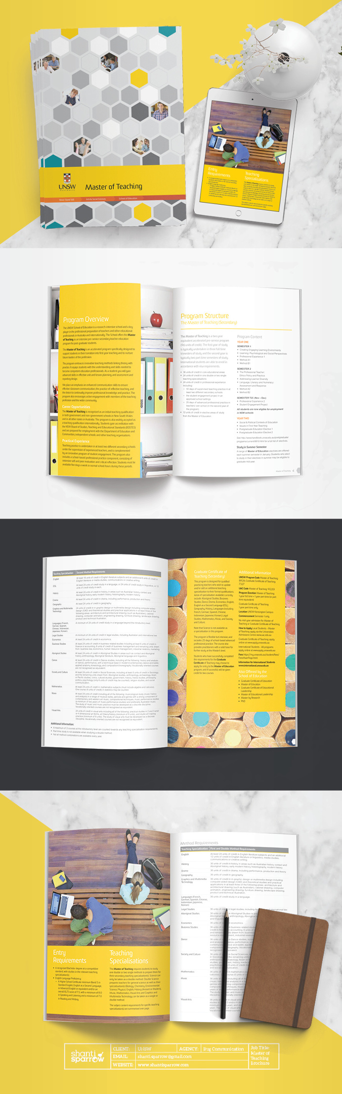 Design by Shanti Sparrow Client: UNSW Project Name: Program Brochure #Design #graphicdesign #layout #magazine #typography #branding #graph
