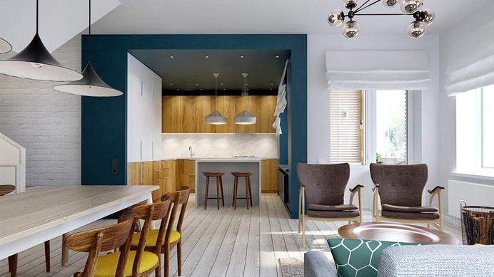Elegant duplex apartment in Moscow INT2 Architecture - HomeWorldDesign (2) #interior #design #moscow #apartment #duplex