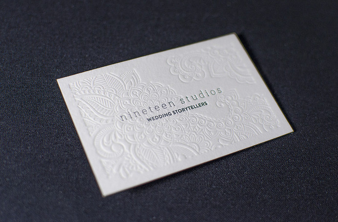 Stunning Letterpress Business Card #business #edges #card #painted #letterpress #cotton #paper