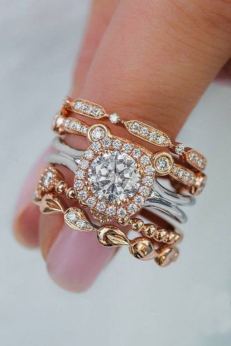 Wedding ring sets become more and more popular among couples. They are not only creating the perfect combination of engagement ring and wedding band but also they solve the problem of choice.