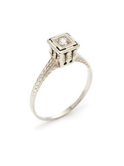 Portero Luxury Art Deco White Gold #gilt #silver #diamond #gold #fashion #ring