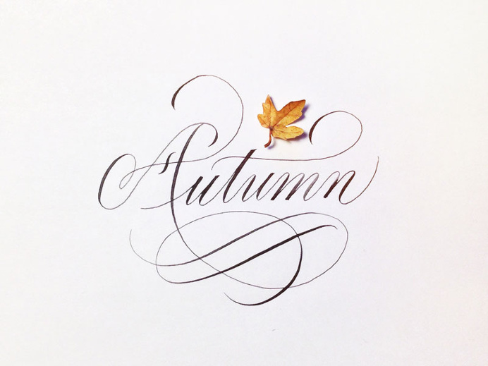 Autumn - Joan Quirós calligraphy. #calligraphy #copperplate