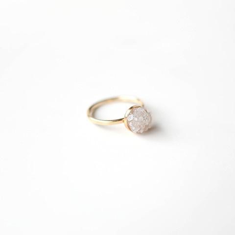 Nanhā Crystal Ring || 14K Gold #crystal #pulse #design #14k #jewelry #gold #parallel #ring
