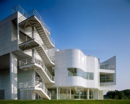 The New Harmony Athenaeum - Archinect #white #modern #richard #architecture #meier