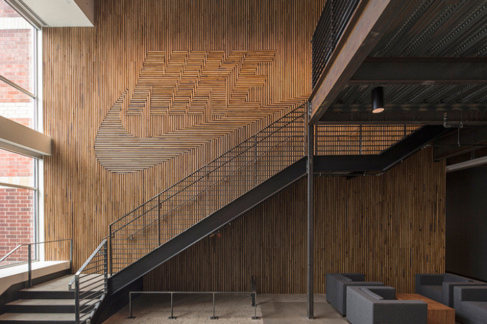 FWD // Nike Workplace Brand Walls | HYPEBEAST #interior #design #texture #
