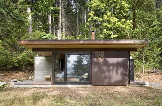 Olson Kundig Architects - Projects - Gulf Islands Cabin #corten #tom #architecture #cabin #kundig