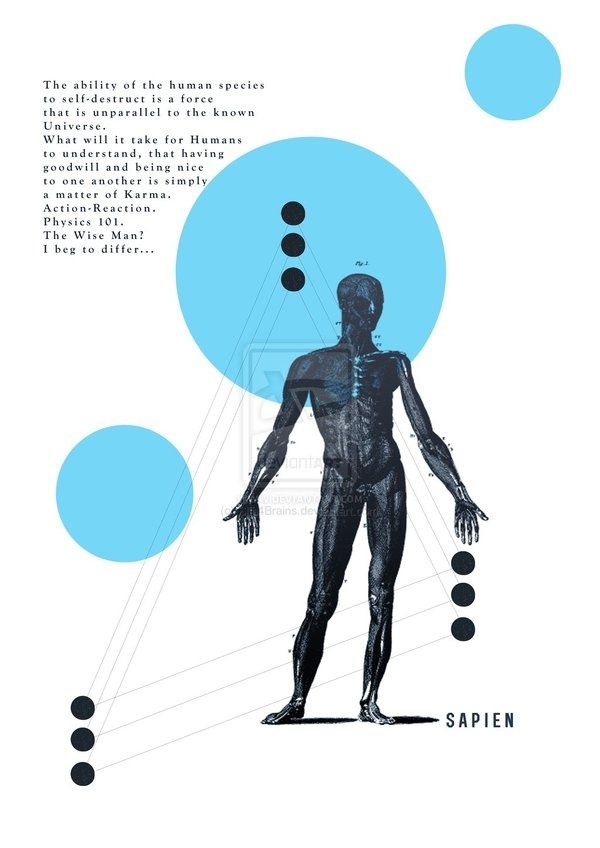 Wise Man by Sith4Brains on deviantART #biology #diagram #wise #sapien #body #anatomy #human #illustration #wisdom #man #science #intelligence