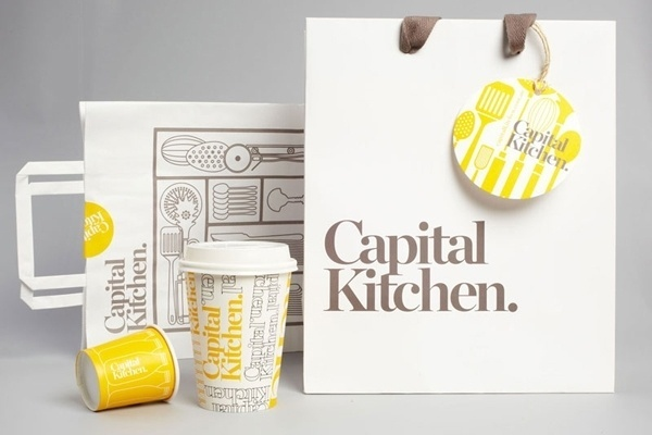 Looks like good Graphic Design by Cornwell #branding #yellow #restaurant #identity #type #grey
