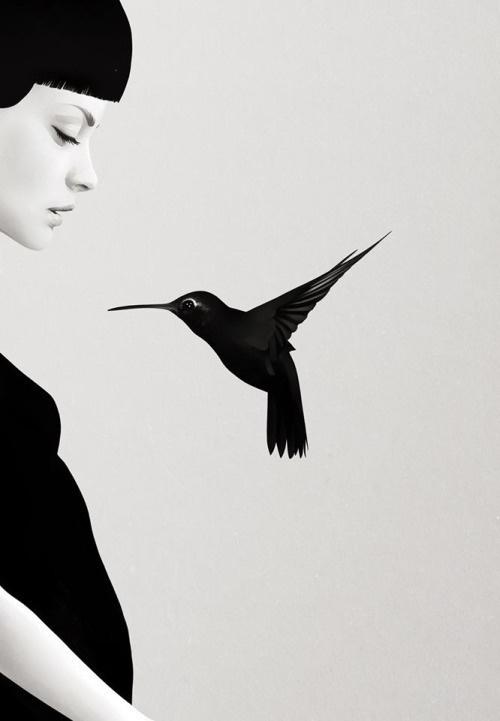 Ruben Ireland #white #black #illustration #art #and