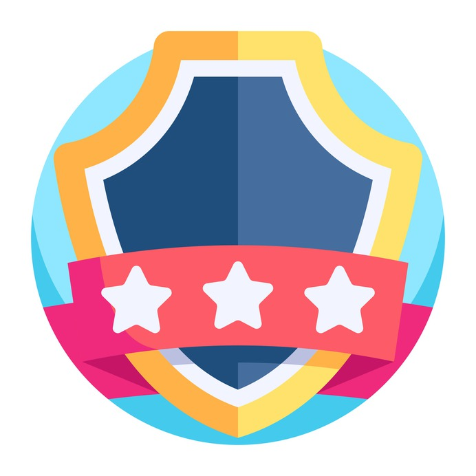 See more icon inspiration related to champion, best, sports and competition, insignia, emblem, badge, winner and award on Flaticon.