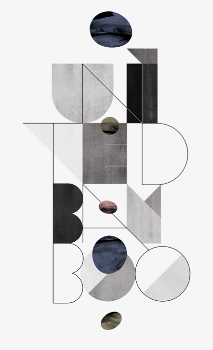 Typographic Treatment for United Bamboo #texture #typography